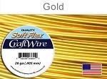 15 yds 26 ga silver plated gold Soft Flex craft wire