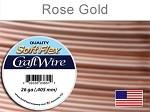 15 yds 26 ga silver plated rose gold Soft Flex craft wire