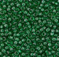 15/0 Japanese Transparent Emerald Green Seed Beads 28 Gram