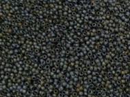 15/0 Round Miyuki Matte Met Grey Blue Iris Glass Seed Beads