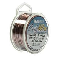 18 Ga Non Tarnish Antique Copper Craft Wire Round 7yd Spl