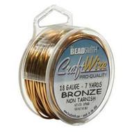 18 Ga Non Tarnish Bronze Craft Wire Round Spl