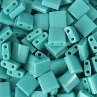 2 Hole Turquoise Japanese Tila Seed beads 10 Grams