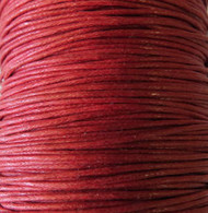 2 meters Genuine Red waxed Cotton Cord 1.mm