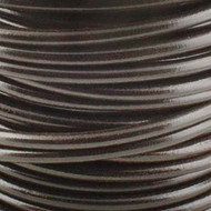 Genuine Leather Cord Round 1.5mm By the Yard Black