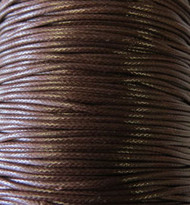 2 meters Genuine Dark Brown Waxed Cotton Cord 1.5mm