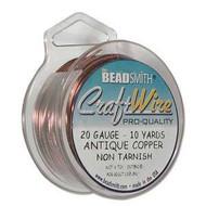 20 Ga Non Tarnish Antique Copper Craft Wire Round 10yd Spl