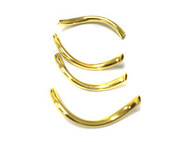 20 gold plated curved metal tube beads