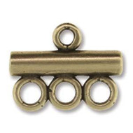 3-row End Cap 16mm Ant Brass