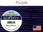 30 yds 26 ga purple Soft Flex craft wire