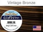 40 yds 28 ga vintage bronze Soft Flex craft wire