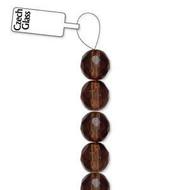 4mm Czech Smoked Topaz fire Polished Glass beads
