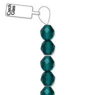 4mm Czech Teal fire Polished Glass beads