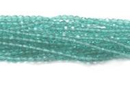 4mm Czech Teal fire Polished Glass beads 1