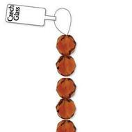 4mm Czech Topaz  fire Polished Glass beads