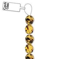 4mm Czech Tortoise-shell fire Polished Glass beads