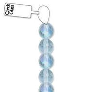4mm Czech Xtra Lt. Sapphire fire Polished Glass beads