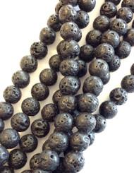 4mm Gemstone Round natural Lava Beads