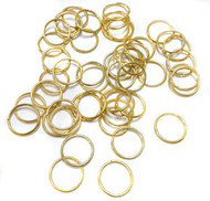 50 gold Plated 12mm open jump rings