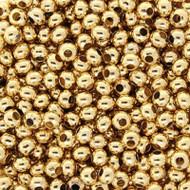 6/0 24 karat Gold Plated Seed beads- 15grams