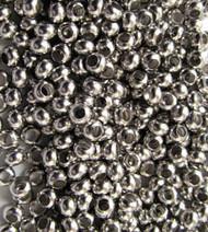 6/0 Nickel Metal Seed beads 10 Gram Bag