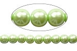 6mm LT Green Czech round smooth Glass Pearl 1