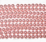 6mm Powder Rose Czech round smooth Glass Pearl
