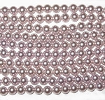 6mm Rosaline Czech round smooth Glass Pearl