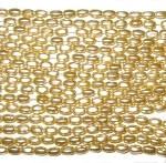 6x4mm Rich Gold Czech rice shape Glass Pearl
