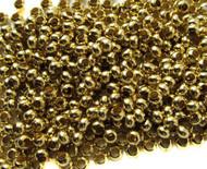8/0 Fine Brass Metal Seed beads 10 Gram Bag
