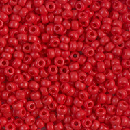 8/0 Opaque Red Round Japanese Glass  Seed Beads-28 Grams