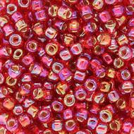 8/0 Ruby Transparent AB Round Japanese
