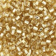 8/0 Silver Light Amber Glass Beads Japanese