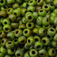 8/0 Japanese Picasso Chartreuse Glass Seed Beads 15Grams