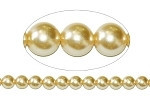 Czech Antique Ivory round smooth Glass Pearl 8mm