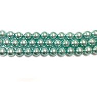 8mm Czech round smooth Glass Pearl 3