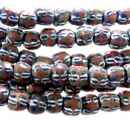 African Recycled Glass Handmade Natural Beads