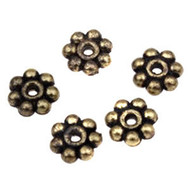 Antique Brass Daisy Spacer Bead