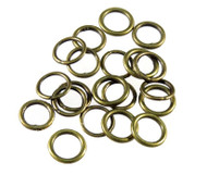 Antique Brass plated round Closed Jump Ring 20-Gauge