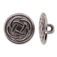 Antique Silver  Plated full metal Button