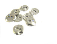 Antique Silver Plated 2 Hole Metal Button