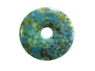 Blue Magnesite Donut Gemstone Pendant