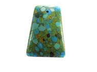 Blue Magnesite Rectangle Gemstone Pendant