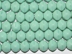 Czech Green Turquoise Nugget Glass Beads