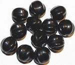 Czech Melon Black Jet glass beads 12mm