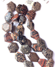 Dakota Gemstone Mexican Fatceted Hex Red Snowflake Jasper Beads