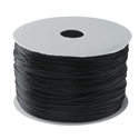 1.2mm Beading Black Round Elastic Stretchy Cord 10 yards