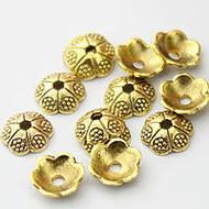 Flower Bead Cap Antique Gold