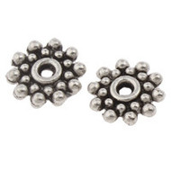 Antique Silver Metal Flower Beads