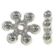 Silver Metal Flower Beads